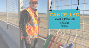 Level 2 Officials Course – CANCELLED