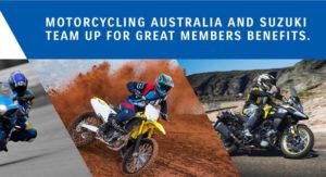 Motorcycling Australia & Suzuki Team up to offer Exclusive Member Benefits
